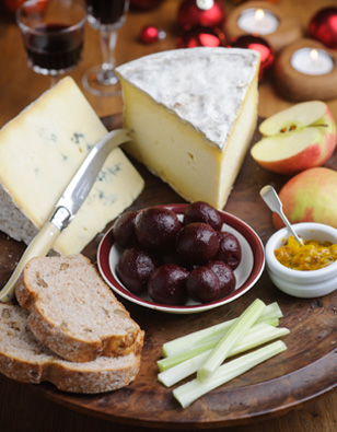 Cheese, Beet & Pink Lady Spread
