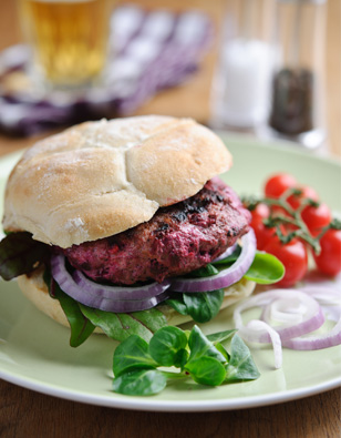Lamb & Sweetfire Beet Burgers with Feta
